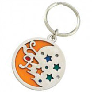 Die Cast Zinc key holders, Color Filled Key Tags