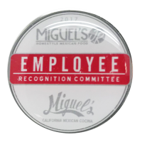 Express Lapel Pin 1″ Round Nickel